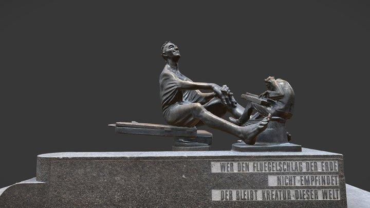 Der Zither Reinhold Brunnen 3D Model