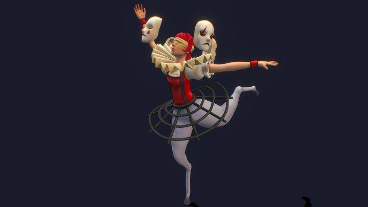 Dancer clown 3D Model