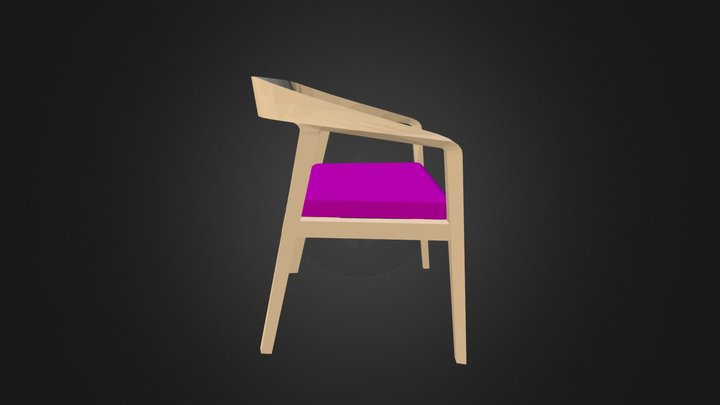 HMI Full Twist Guest Chair 3D Purple 3D Model