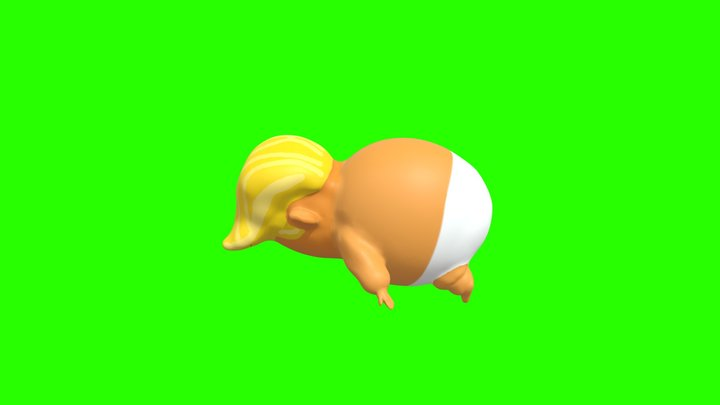 Baby Trump Side 3D Model