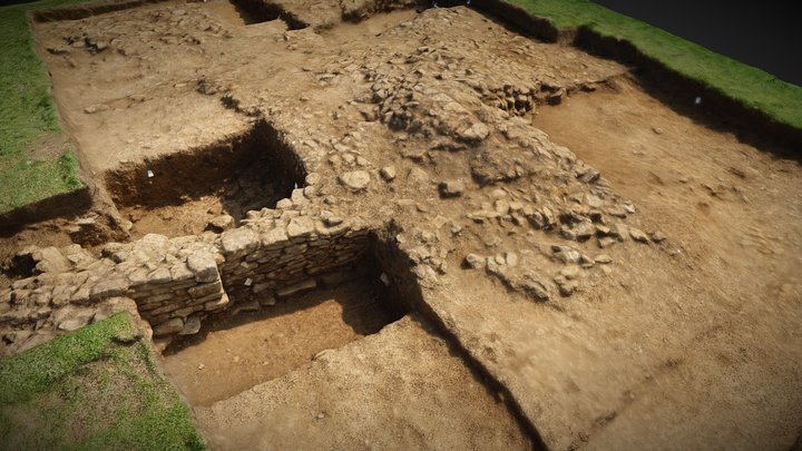 Oakham Castle - Trench 1 mid-excavation 3D Model