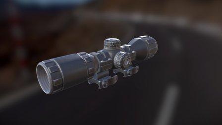 PBR Rifle scope 3D Model