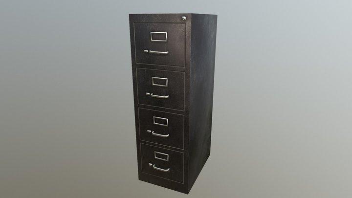 Filing Cabinet - Black Variant A 3D Model