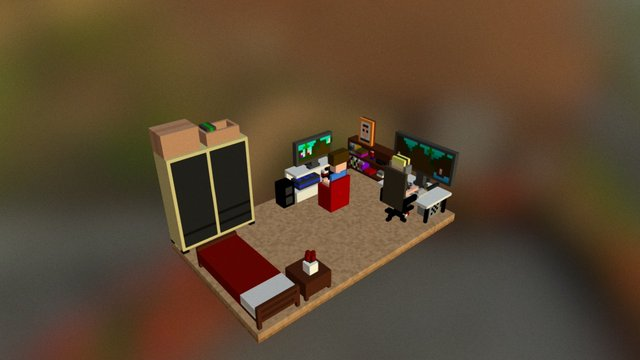 Gaming Room 3D Model