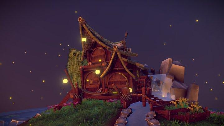 Hermit's retreat 3D Model