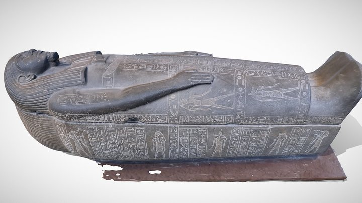 King Psusennes sarcophagus 3D Model