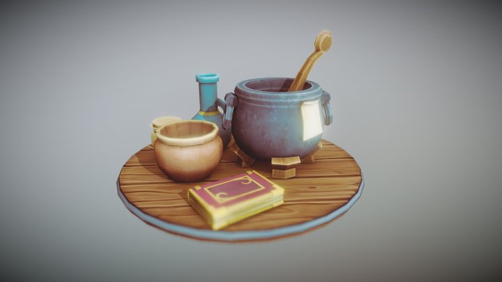 Low_Poly_Medieval_Props_05 3D Model