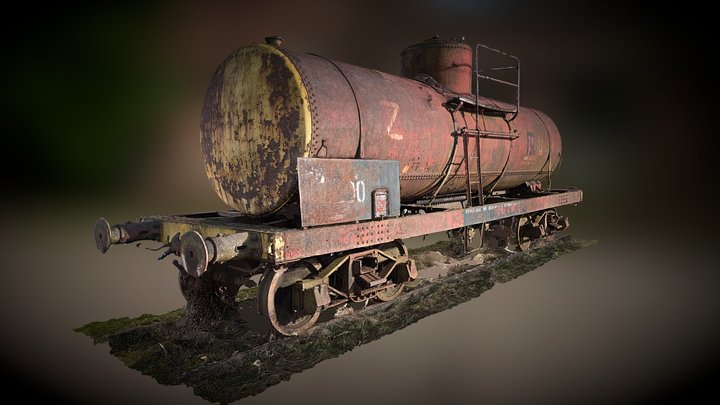 Wagon Citerne 3D Model