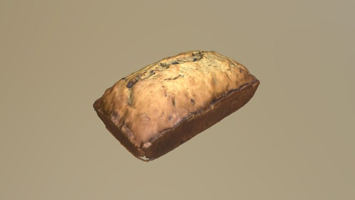 Banana bread 3D Model