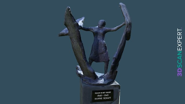Hannie Schaft Statue 3D Model