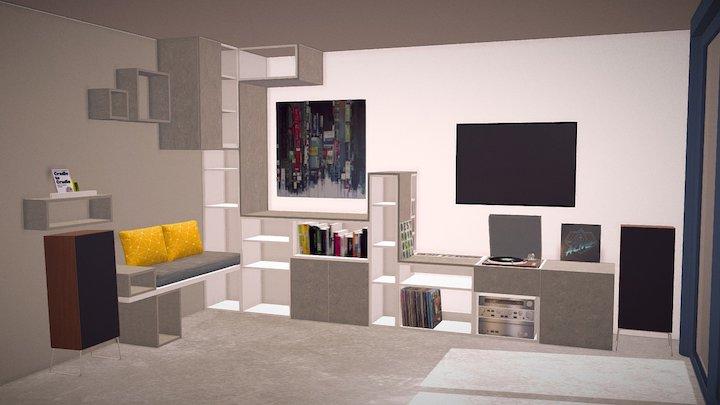 Un Salon Pour Marion 3D Model