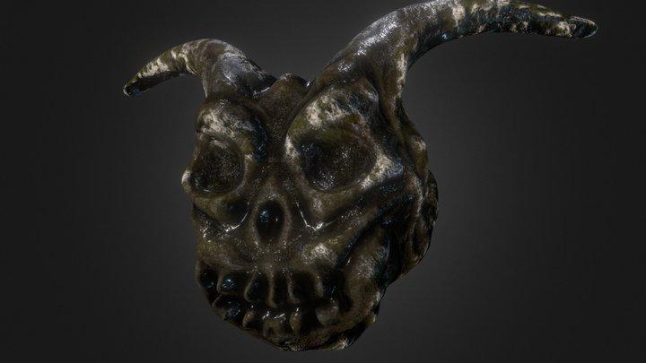 Monster Skull Relic 3D Model
