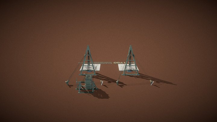 1980 Machines de levage romaines 3D Model