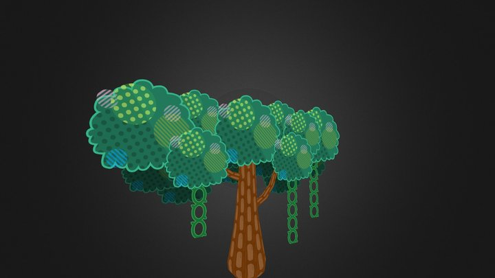 Cartoony Tree 3D Model