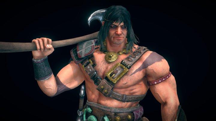 Conan The Cimmerian 3D Model
