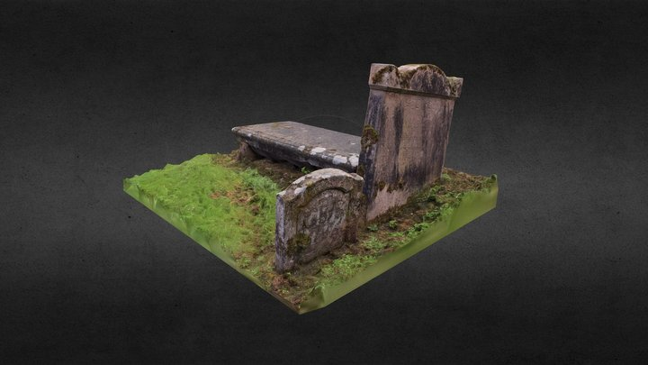 Gravestone Group 1 - St Machan's Church 3D Model