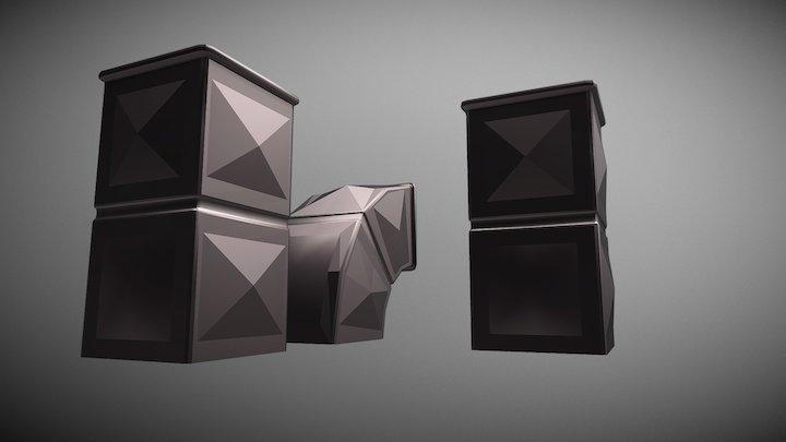 Vent shafts pack 3D Model