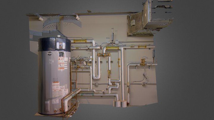 Plant Room: Terrestrial Scan used with Pointfuse 3D Model