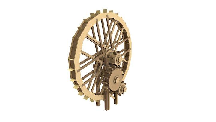 Water Wheel AO 3D Model