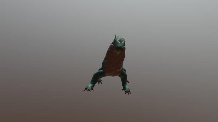 Reptile and 3D lizard Reptil y lagarto 3D. 3D Model