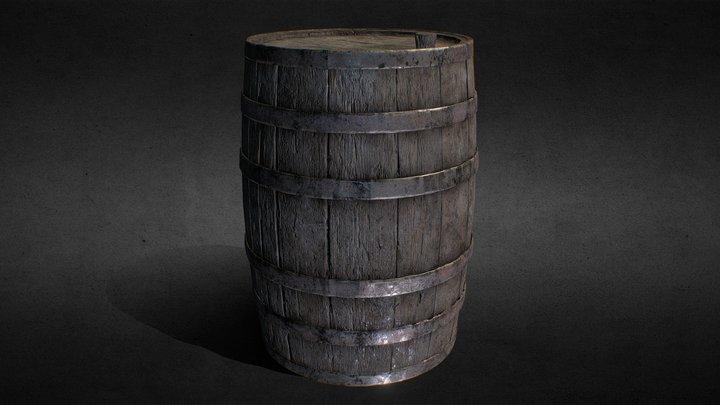 Old Barrel (Free Download) 3D Model