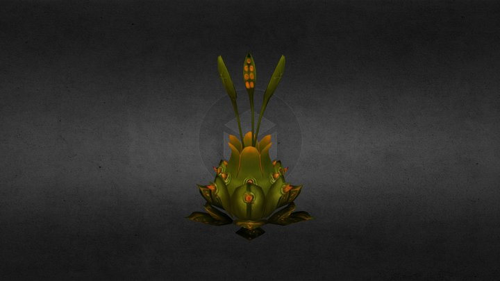 """OJF""Octo Flower 3D Model"