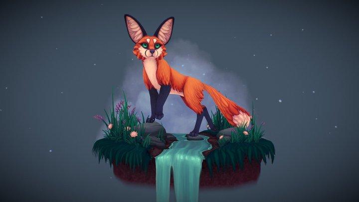 Curious Fox 3D Model