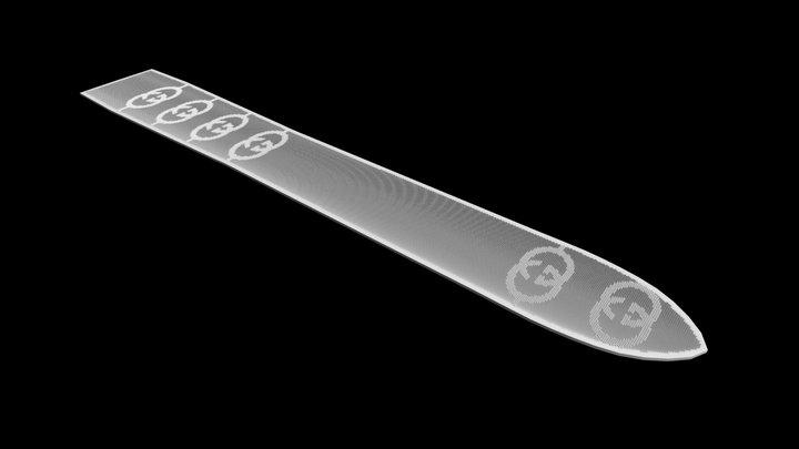GUC_0.25mm_strapOffsetGrid_x2_001 3D Model