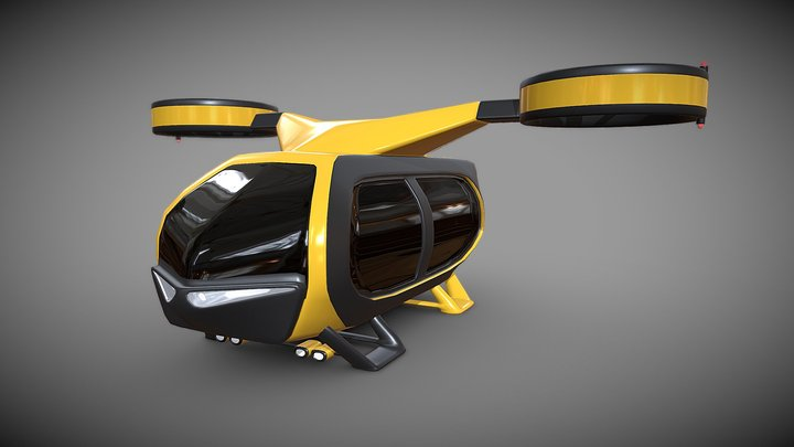 Flying taxi concept 3D Model