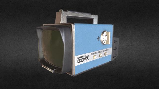 Old Soviet Portable TV 3D Model