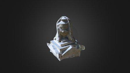 Draped Urn Headstone 3D Model
