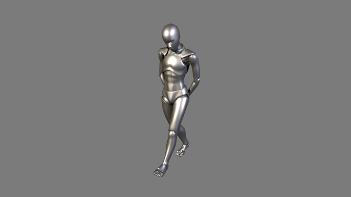 Walking With Hands Behind Back 3D Model