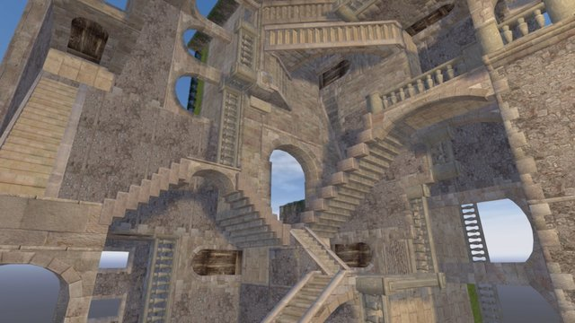 Relativity 3D - Escher 3D Model