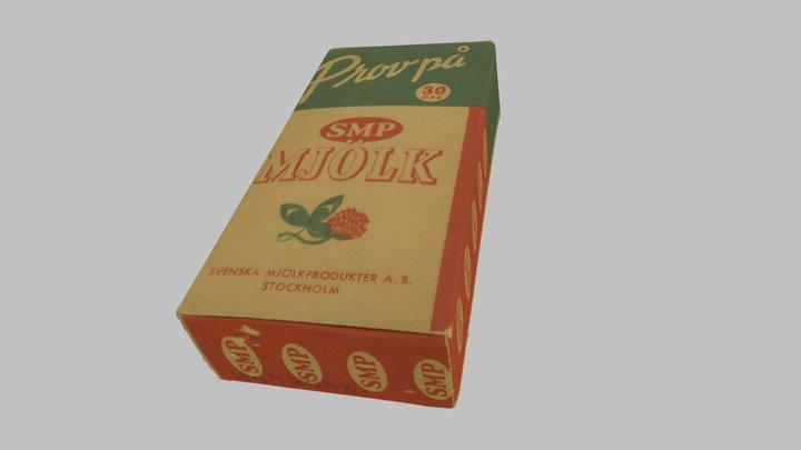 Förpackning. SMP Mjölkpulverpaket ca 1940-1960 3D Model