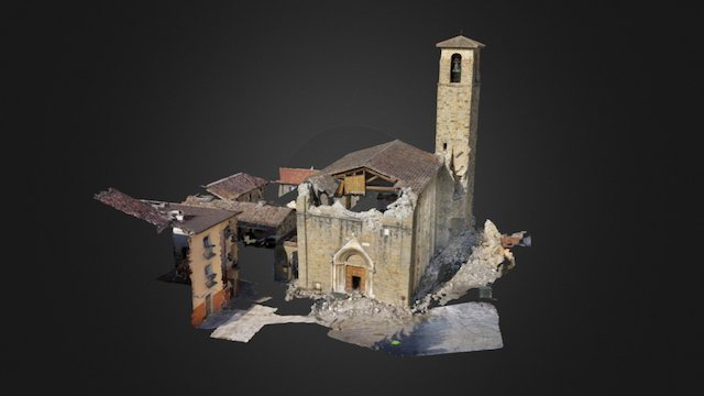 Amatrice St. Agostino, made with AscTec Falcon 8 3D Model