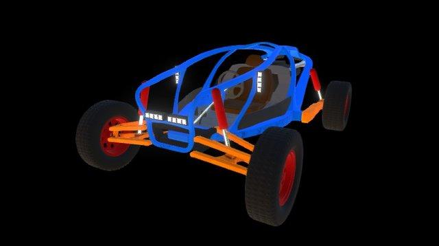 Buggy - Hillybilly Express 3D Model