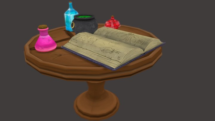 Alchemy Table 3D Model