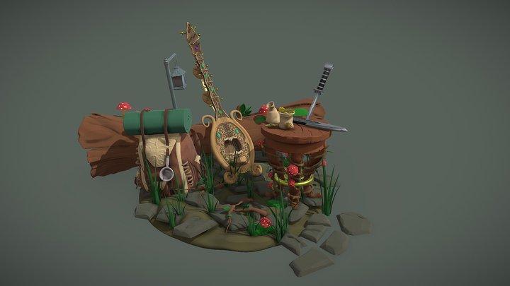 DS- Adventure Camp 3D Model