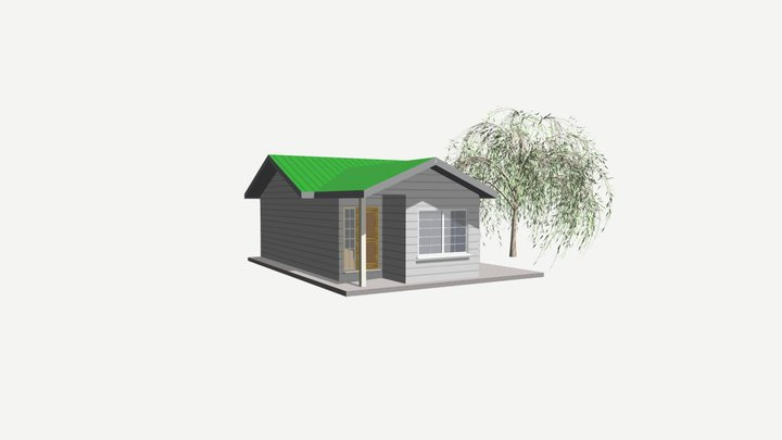 656 sq ft 61 sq m SIP Panel House Models 3D Model