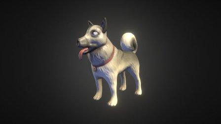 Caesar The Dog 3D Model