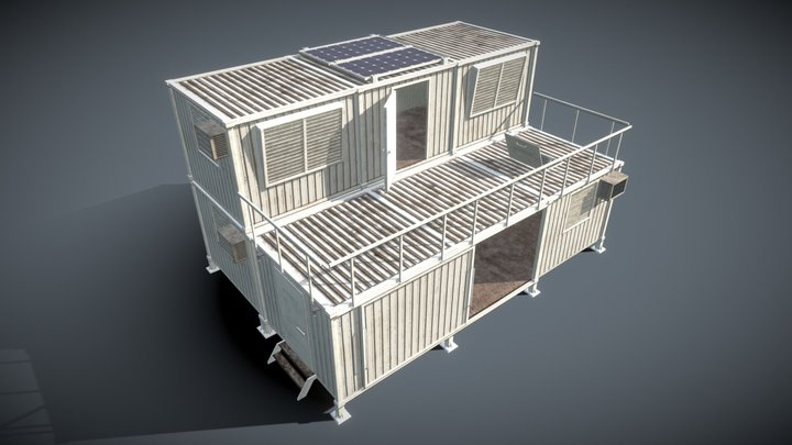 Modular Containers Buildings 3D Model