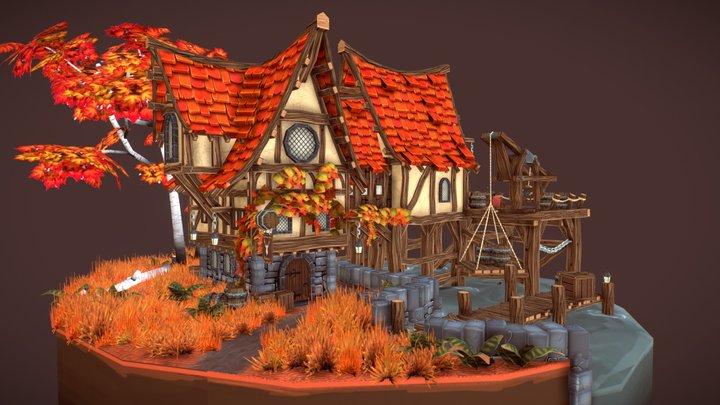 The Drunken Deer Tavern 3D Model