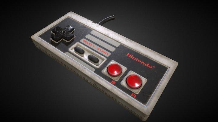 Nes Controller - 512 Texture 3D Model