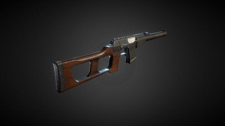 Rusty VSS Vintorez (updated) 3D Model
