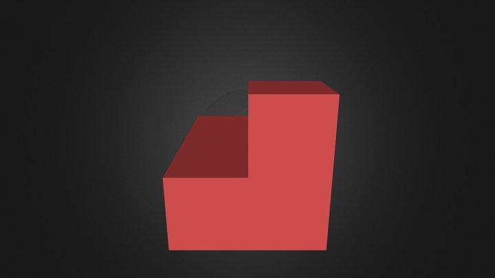 red puzle part 3D Model
