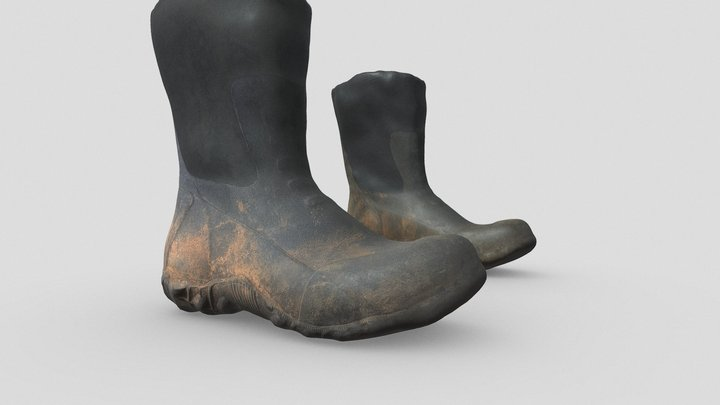Waterproof Boots for Character Shoes 3D Model