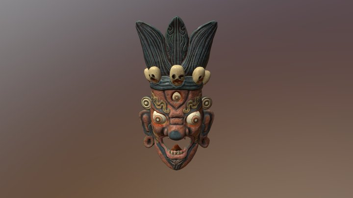 Demon Mask 3D Model