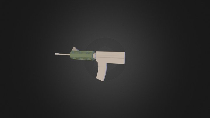 untitled carbine highpoly 3D Model