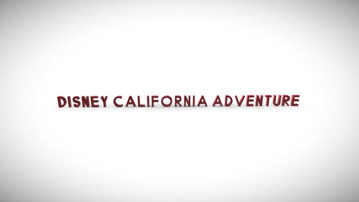 Disney California Adventure Sign