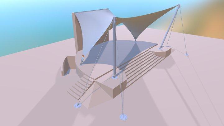 Amfiteatr w Łomiankach 3D Model